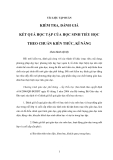 TÀI LIỆU TẬP HUẤN  KIỂM TRA, ĐÁNH GIÁ KẾT QUẢ HỌC TẬP CỦA HỌC SINH TIỂU HỌC THEO CHUẨN KIẾN THỨC, KĨ NĂNG