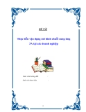Tiểu luận : Thực tiễn vận dụng mô hình chuỗi cung ứng 3A tại các doanh nghiệp