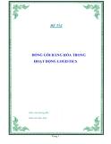 """Tiểu luận """" ĐÓNG GÓI HÀNG HÓA TRONG HOẠT ĐỘNG LOGISTICS """""""