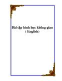 Bài tập hình học không gian ( English)