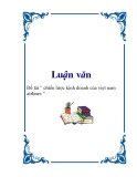 """Đề tài """" chiến lược kinh doanh của Việt Nam  airlines """""""