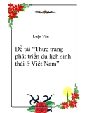 """Đề tài """"Thực trạng phát triển du lịch sinh thái ở Việt Nam"""""""