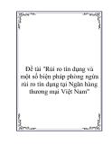 Đề tài: Rủi ro tín dụng và một số biện pháp phòng ngừa rủi ro tín dụng tại Ngân hàng thương mại Việt Nam