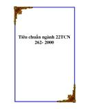 Tiêu chuẩn ngành 22TCN 262- 2000
