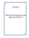 Bản tóm tắt chương trình ngữ pháp anh văn lớp 12