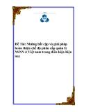 Đề tài về 'Những bất cập và giải pháp hoàn thiện chế độ phân cấp quản lý NSNN ở Việt nam trong điều kiện hiện nay '