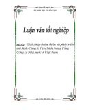 """Đề tài """"Giải pháp hoàn thiện và phát triển mô hình Công ty Tài chính trong Tổng Công ty Nhà nước ở Việt Nam"""""""