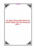 Xây Dựng Thương Hiệu Dành Cho Doanh Nghiệp Việt Nam Đương Đại phần 1