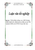 """Đề tài """" Giải pháp nâng cao chất lượng thẩm định tài chính dự án đầu tư tài Chi nhánh NHNo & PTNN Nam Hà Nội"""""""