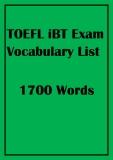 TOEFL iBT exam vocabulary list 1700 Words
