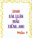 380 bài luận mẫu tiếng Anh - Phần 1