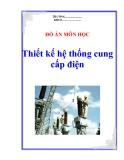 Đồ án: Thiết kế hệ thống cung cấp điện