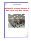 Hướng dẫn sử dụng file quản lý kho vật tư hàng hóa  D0708