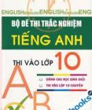 Bộ đề thi trắc nghiệm ngữ pháp thi tuyển vào lớp 10