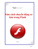 Năm cách chuyển động cơ bản trong Flash