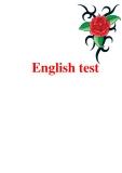 Tài liệu về English test