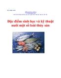 Đặc điểm sinh học và kỹ thuật nuôi một số loài thủy sản - TS. Dương Nhựt Long