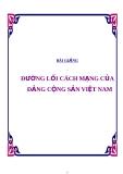 Bài giảng Đường lối CM của Đảng cộng sản Việt Nam