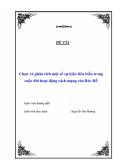 """Tiểu luận """" Chọn và phân tích một số sự kiện tiêu biểu trong cuộc đời hoạt động cách mạng của Bác Hồ """""""