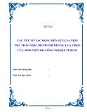 """Đề tài """" CÁC YẾU TỐ TÁC ĐỘNG ĐẾN SỰ LỰA CHỌN TRÀ THẢO MỘC DR.THANH ĐẾN SỰ LỰA CHỌN CỦA SINH VIÊN ĐH CÔNG NGHIỆP TP.HCM  """""""