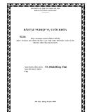 Đề Tài:  MỘT SỐ BIỆN PHÁP HÌNH THÀNH  BIỂU TƯỢNG VỀ KÍCH THƯỚC VẬT THỂ CHO TRẺ MẪU GIÁO LỚN  TRONG TRƯỜNG MẦM NON