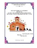 BÀI TẬP NGHIỆP VỤ CUỐI KHOÁ TÊN ĐỀ TÀI TỔ CHỨC TRÒ CHƠI HỌC TẬP NHẰM HÌNH THÀNH  NHỮNG BIỂU TƯỢNGVỀ HÌNH KHỐI CHO TRẺ 5 - 6 TUỔI