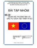 """Đề tài """" Quan hệ thương mại và đầu tư giữa Việt Nam và EU """""""