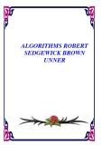 ALGORITHMS ROBERT SEDGEWICK BROWN UNNER