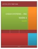 """ĐỀ TÀI """" CISCO SYSTEMS – INC """""""