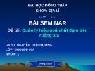 Bài Seminar Đề tài: Quản lý hiệu quả chất đạm trên ruộng lúa