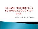 Đa dạng sinh học của bộ móng guốc ở Việt Nam - GV: Lê Ngọc Thông
