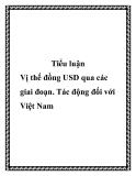 """Báo cáo """"Vị thế đồng USD qua các giai đoạn. Tác động đối với Việt Nam"""""""