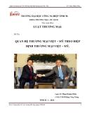 """Đề tài """" quan hê thương mại Việt-Mỹ theo hiệp định thương mại Việt-Mỹ """""""