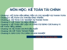 Bài giảng Kế toán tài chính - GV. Tôn Thất Minh Mẫn