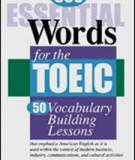 600 Essential TOEIC words