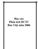 """Báo cáo """"Phân tích BCTC Bảo Việt năm 2006"""""""