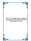 """Báo cáo """"Giải pháp nâng cao hiệu quả hoạt động huy động vốn của Ngân hàng thương mại Việt Nam"""""""