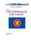 """Tiểu luận """"Vị thế của Việt Nam trong ASEAN - Thời cơ và thách thức"""""""