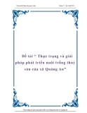 """Đề tài """" Thực trạng và giải pháp phát triển nuôi trồng thuỷ sản của xã Quảng An"""""""