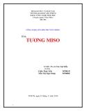 Đề tài công nghệ lên men truyền thống: Tương Miso