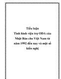 """Báo cáo """"Viện trợ ODA của Nhật dành cho Việt Nam"""""""