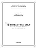 Giáo trình Hệ điều hành Unix - Linux - Hà Quang Thụy, Nguyễn Trí Thành