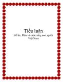 Đề tài:  Dừa và cuộc sống con người Việt Nam
