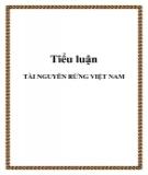 Tiểu luận đề tài: Tài nguyên rừng Việt Nam
