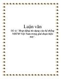 Đề tài về: 'Hoạt động tín dụng của hệ thống NHTM Việt Nam trong giai đoạn hiện nay'