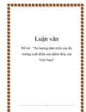 """Đề tài:  """"Xu hướng phát triển của thị trường xuất khẩu sản phẩm thủy sản Việt Nam"""""""