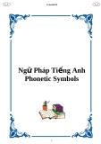 Ngữ pháp tiếng Anh: Phonetic Symbols