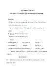 Hoá học 8 - BÀI THỰC HÀNH SỐ 3 DẤU HIỆU CỦA HIỆN TƯỢNG VÀ PHẢN ỨNG HOÁ HỌC