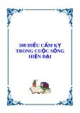 500 điều được cấm kỵ trong cuộc sống hiện đại