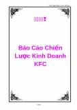 """Báo cáo """"Chiến lược kinh doanh KFC"""""""